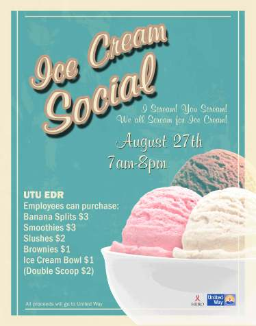 Ice Cream Social Back of House Poster