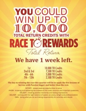 Race to Rewards Back of House poster