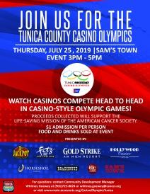 2019 Casino Olympics Flyer